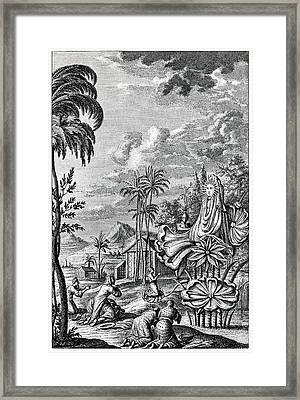 Sun Worship In Babylonia Framed Print by Cci Archives