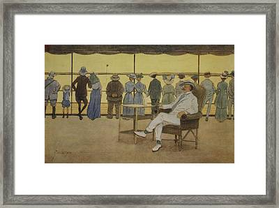 Sun Worshippers, From The Light Side Framed Print by Lance Thackeray