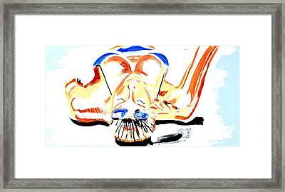 Sunbathe Framed Print