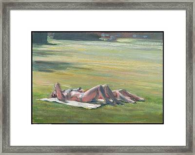 Sunbathers Framed Print by Diana Moses Botkin