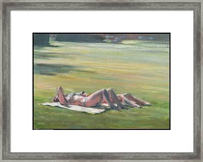 Sunbathers Framed Print