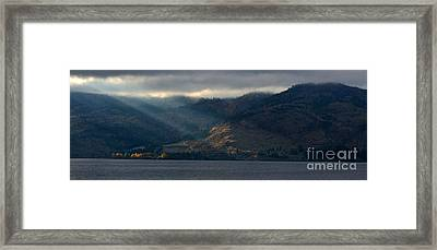 Sunbeams On The Mission I Framed Print by Phil Dionne