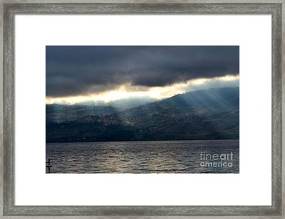 Sunbeams On The Mission II Framed Print by Phil Dionne