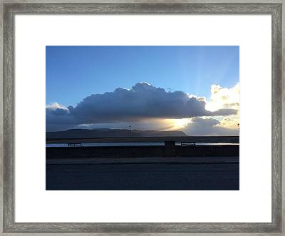 Sunbeams Over Conwy Framed Print by Christopher Rowlands