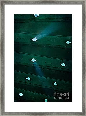 Sunbeams Throught The Old Metal Stairs Framed Print