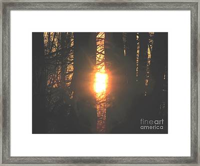 Framed Print featuring the photograph Sunblaze-2 by Melissa Stoudt