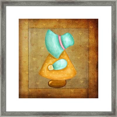 Sunbonnet Sue Framed Print by Brenda Bryant