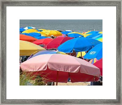 Sunbrellas Framed Print by Kim Bemis