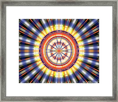 Framed Print featuring the digital art Sunburst by Brian Johnson