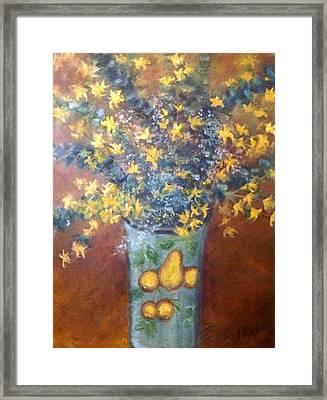 Sunburst Floral Framed Print