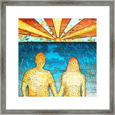 Sunburst In Love Framed Print