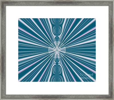 Framed Print featuring the digital art Sunburst In The Rain by Luther Fine Art
