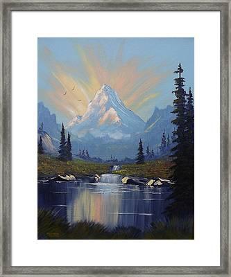 Sunburst Landscape Framed Print