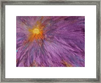 Sunburst Mandala  Framed Print by James Flux