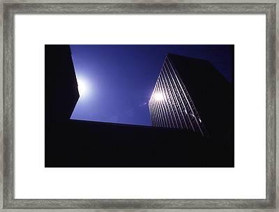 Sunburst On Building Framed Print by Thomas D McManus