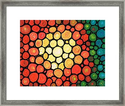 Sunburst Framed Print by Sharon Cummings