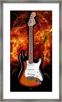 Sunburst Stratocaster Framed Print by Peter Chilelli