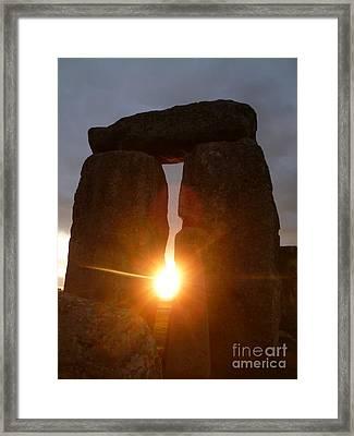 Sunburst Framed Print by Vicki Spindler
