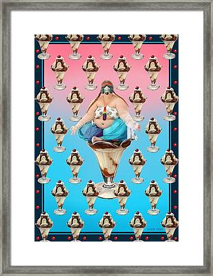 Sundae Girl Framed Print