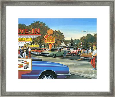 Sunday After The Races Framed Print