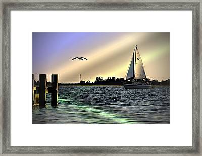 Framed Print featuring the photograph Sunday Afternoon by Allen Beilschmidt