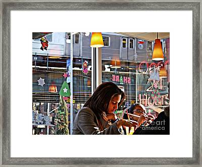 Sunday Afternoon At Dunkin Donuts 11 Framed Print