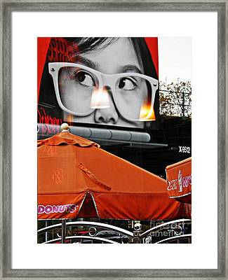Sunday Afternoon At Dunkin Donuts 13 Framed Print by Sarah Loft