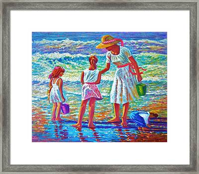 Sunday Afternoon At The Beach Framed Print by Joseph   Ruff