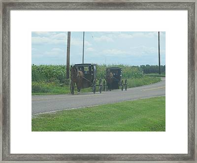 Framed Print featuring the photograph Sunday Afternoon Ride by Tina M Wenger