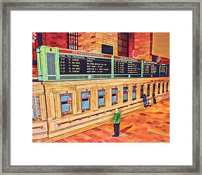 Sunday Am At Grand Central Framed Print