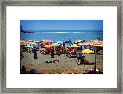 Sunday At The Beach - Barranco Framed Print by Mary Machare