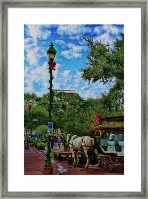 Sunday At The City Market Framed Print by Lee Dos Santos