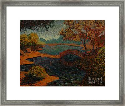 Sunday At The Park II Framed Print by Monica Caballero
