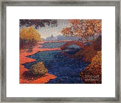Sunday At The Park Framed Print by Monica Caballero