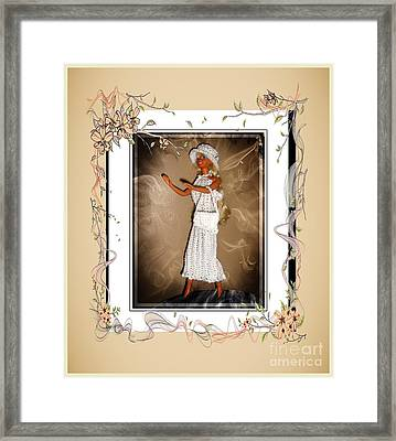 Sunday Brunch With Friends - Fashion Doll - Girls - Collection Framed Print by Barbara Griffin
