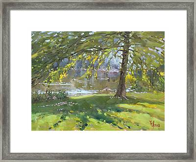Sunday By The Pond In Port Credit Mississauga Framed Print