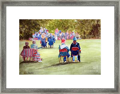 Sunday Concert Framed Print by Sandy Linden