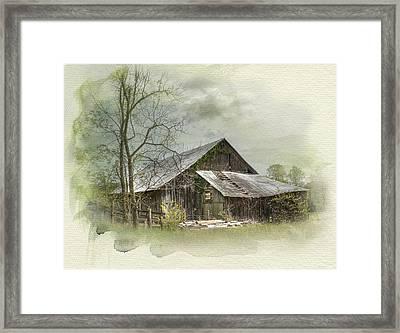 Sunday Drive Barn Framed Print by Kathleen Holley