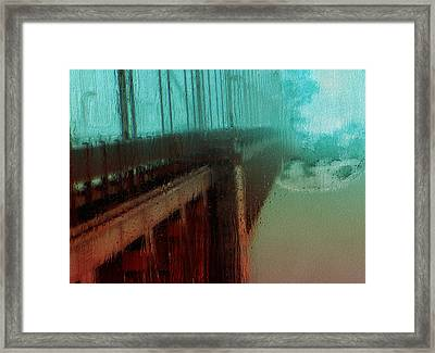 Sunday Drive To The Moon Framed Print by Jack Zulli