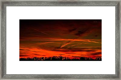 Sunday Evening With Watermark Framed Print