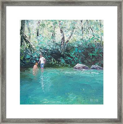 Sunday Fun Framed Print by Jan Matson
