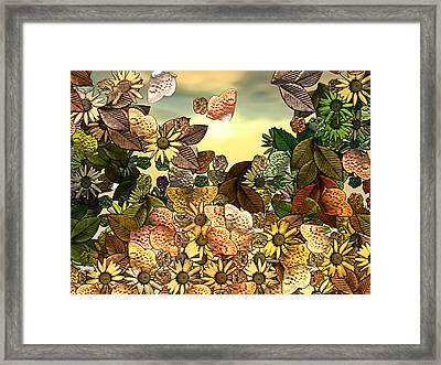 Sunday Garden Framed Print by Wendy J St Christopher