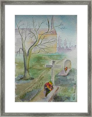 Framed Print featuring the painting Sunday by Geeta Biswas