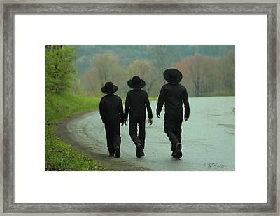 Sunday Go To Meetin' Framed Print by Skip Tribby