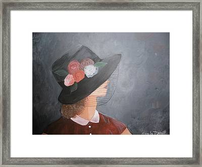 Sunday Hat Framed Print by Glenda Barrett
