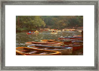 Sunday In Chapultepec Park Framed Print by Spyder Webb