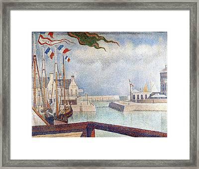 Sunday In Port-en-bessin Framed Print by Georges Seurat