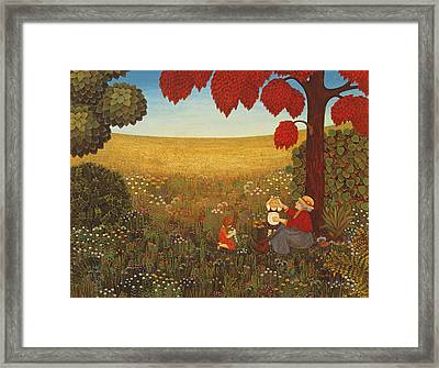 Sunday In Salmansdorf Framed Print by Ditz