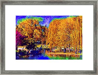 Sunday In The Park Framed Print by Kirt Tisdale