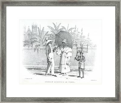 Sunday In Town Framed Print by British Library
